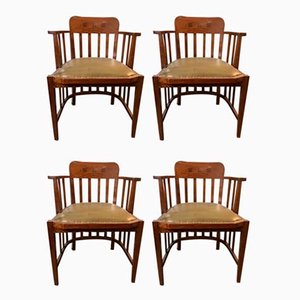 Leather Office Chairs from Globe Wernicke, 1990s, Set of 4
