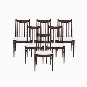 Sedie da pranzo 422 in palissandro di Arne Vodder per Sibast, anni '60, set di 6