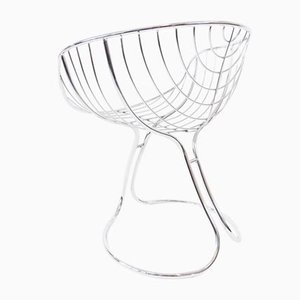 Chrome Dining Chair by Gastone Rinaldi for Rima, 1960s