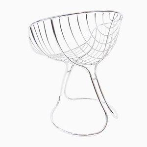 Esszimmerstuhl aus Chrom von Gastone Rinaldi für Rima, 1960er