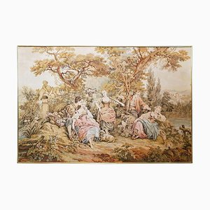 French Baroque Aubusson Style Wall Tapestry, 1960s