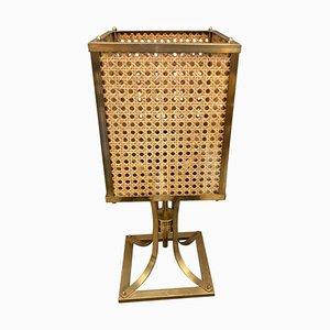 Mid-Century Italian Brass & Glass Table Lamp, 1970s
