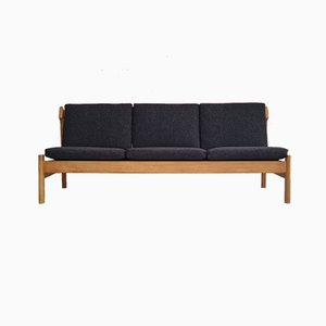 Danish Oak & Wool 217 Sofa by Børge Mogensen for Fredericia, 1970s