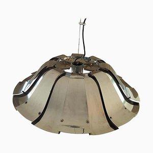 Lámpara colgante Reggiani italiana de metal, años 60