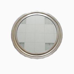 Runder Italienischer Metall Narciso Spiegel von Sergio Mazza für Artemide, 1960er