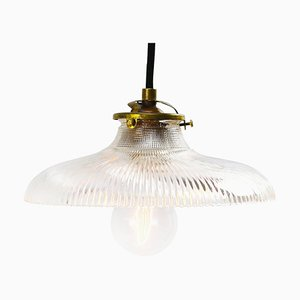 Mid-Century Industrial Glass Ceiling Lamp
