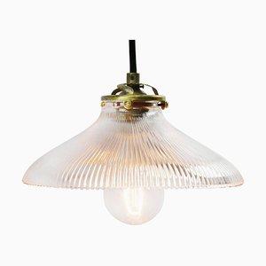 Lámpara de techo industrial Mid-Century de vidrio