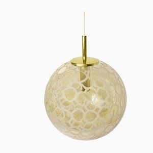 Lámpara de techo de vidrio ámbar de Doria Leuchten, años 60