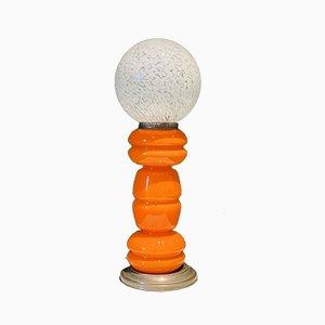 Lampe de Bureau en Verre Murano Soufflé Orange par Carlo Nason pour Mazzega, Italie, 1965
