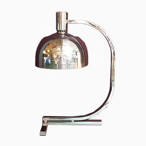 Italian Mid-Century Modern Chromed AM/AS Table Lamp by Franco Albini & Franca Helg for Sirrah, 1969