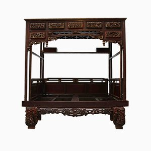 Antique Chinese Canopy Bed - Double