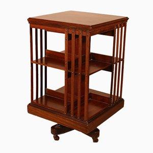 19th Century Mahogany Revolving Bookcase Cabinet