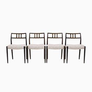 79 Esszimmerstühle aus Palisander von Niels Otto Møller für JL Møllers, 1960er, 4er Set