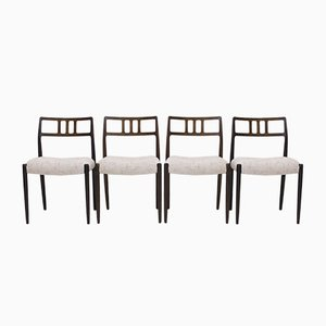 Rosewood 79 Dining Chairs by Niels Otto Møller for J.L. Møllers, 1960s, Set of 4