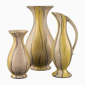 Vasen von Josef Koch für Eduard Bay Figur, 1950er, 3er Set