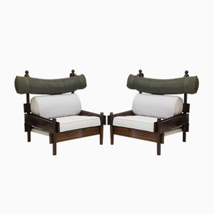Rosewood Tonico Chairs by Sergio Rodrigues, 1960s, Set of 2