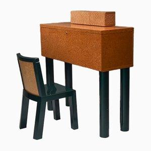 Scrivania e sedia vintage di Ettore Sottsass & Marco Zannini Donau