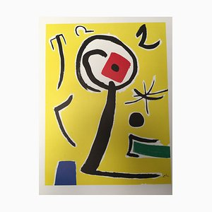 Miró Lithography Poster from Montedison, 1985