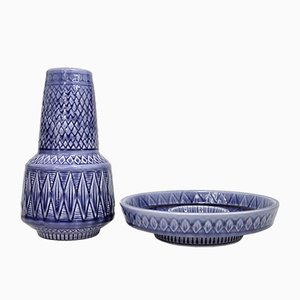 Scherzo Vase und Schale von Gunnar Nylund für Rörstrand, 1960er, 2er Set
