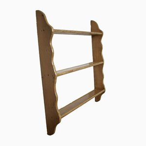 Large Pine Plate Rack, Early 1900s