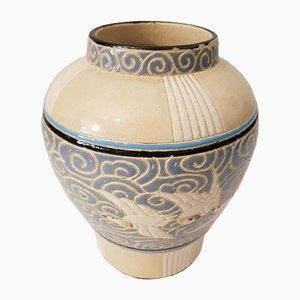 Antique Jugendstil Majolica Vase