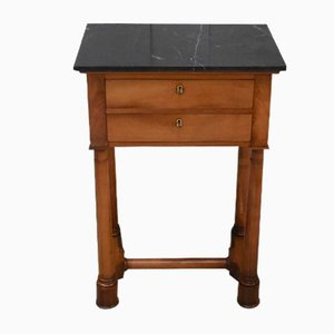 Small Empire Style Solid Birch Side Table, Early 1800s