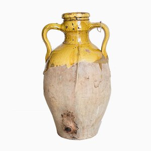 Jarrón italiano antiguo esmerilado, década de 1800