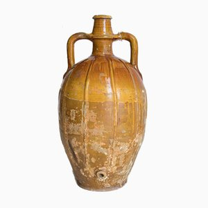Antique Italian Glazed Ceramic Vase, 1800s