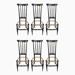 Chaises de Salon par Gio Ponti pour SAC Chiavari, 1950s, Set de 6
