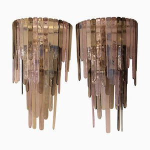 Murano Glass Sconces from Leucos, 1980s, Set of 2