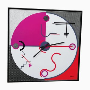 Vintage Postmodern Clock by Giannei for Giannei, 1980s