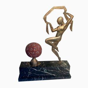 Französische Art Deco Bronze Janle Skulptur von Gabriel Argy-Rousseau