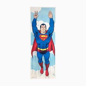 Vintage Superman Panel Poster, 1971