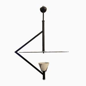 Black & White Ceiling Lamp by Gino Vistosi for Murano, 1970s