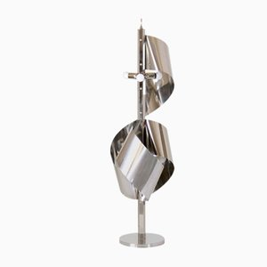 Lampada da terra cromata di Goffredo Reggiani per Reggiani, anni '60