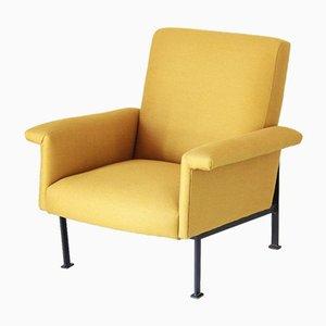 Butaca vintage amarilla, años 50
