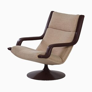 Bruine F140 Swivel Chair by Geoffrey Harcourt for Artifort, 1970s