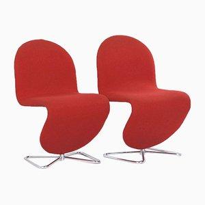 System 123 Stühle von Verner Panton für Fritz Hansen, 1970er, 2er Set