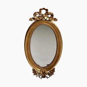 Specchio in stile gustaviano dorato, XX secolo