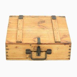 Antique Iron Wooden Box, 1920s