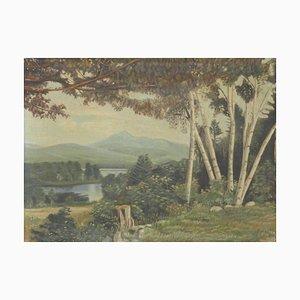 Doris Holt, pintura al óleo de paisaje, principios del siglo XX