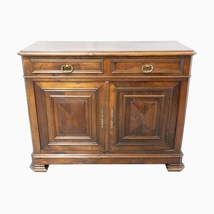 Antique French Carved Walnut Buffet, Late 19th Century