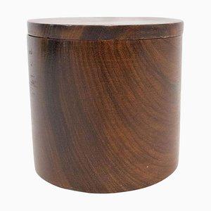 Zylindrische Holzbox, 1960er, Frankreich