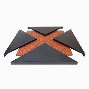 Table Basse avec Panneaux Coulissants deTravail Français, 1970s
