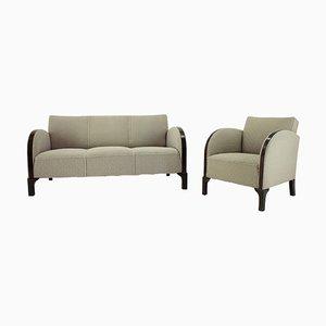 Art Deco Sofa und Sessel, Dänemark, 1930er, 2er Set
