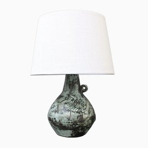 Vintage French Ceramic Lamp by Jacques Blin, 1950s