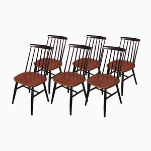 Fanette chairs by Ilmari Tapiovaara, Set of 6
