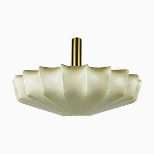 Lámpara colgante Losange Cocoon Mid-Century de latón, años 60, Italy