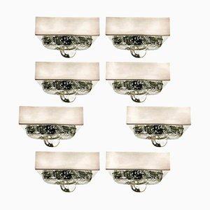 Lampada da parete o da soffitto in vetro soffiato a mano di Doria, anni '70