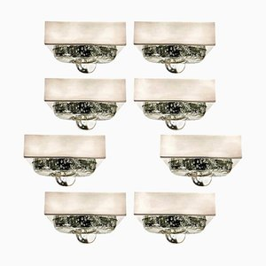 Lámpara de pared / techo de vidrio soplado de Doria, años 70